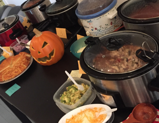 crockpots full of food