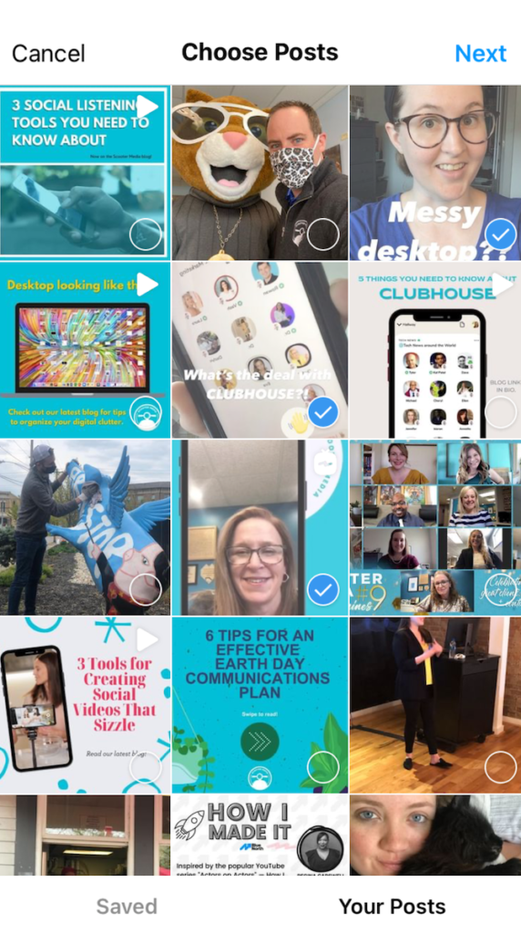 choose your Instagram posts for Instagram Guides