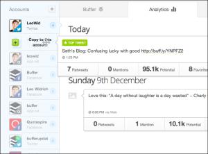 Buffer dashboard Screenshot