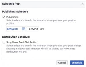 Facebook Scheduling Tool screenshot