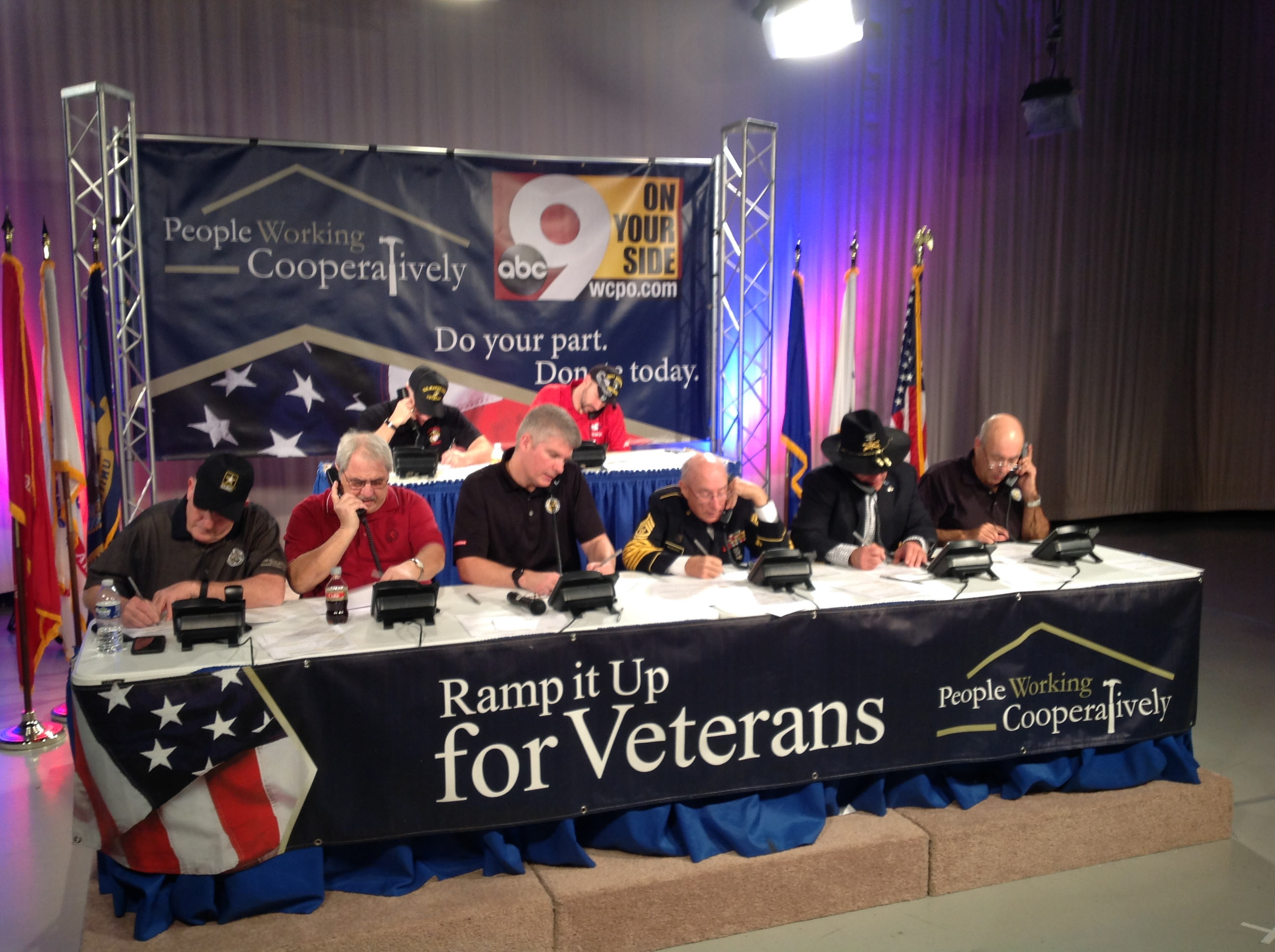 People Working Cooperatively Ramp It Up for Veterans Telethon