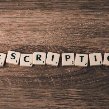 Scrabble tiles spelling Description