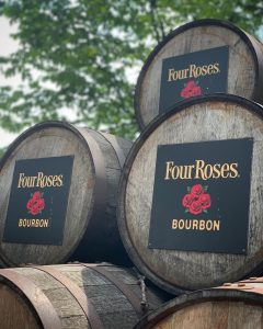 Bourbon Barrels from Four Roses, part of the Kentucky Bourbon Trail
