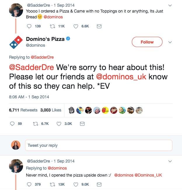Domino's Pizza Twitter Exchange