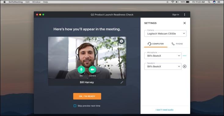 GoTo Meeting Example