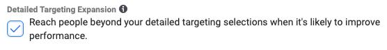 Facebook Ads Detailed Expansion Targeting