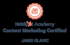 Jamie Glavic Hubspot Certification