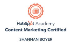 Shannan Boyer Hubspot Certification
