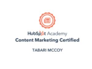 HubSpot Certification Badge