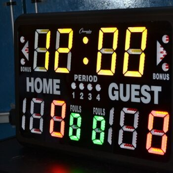 Score board from a college basketball game
