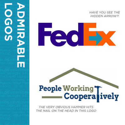 Examples of standout brand logos, including FedEx and People Working Cooperatively