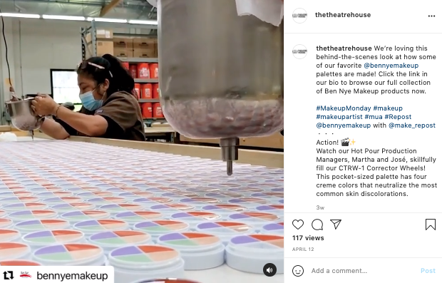 User-generated content from Ben Nye Makeup on Theatre House Instagram