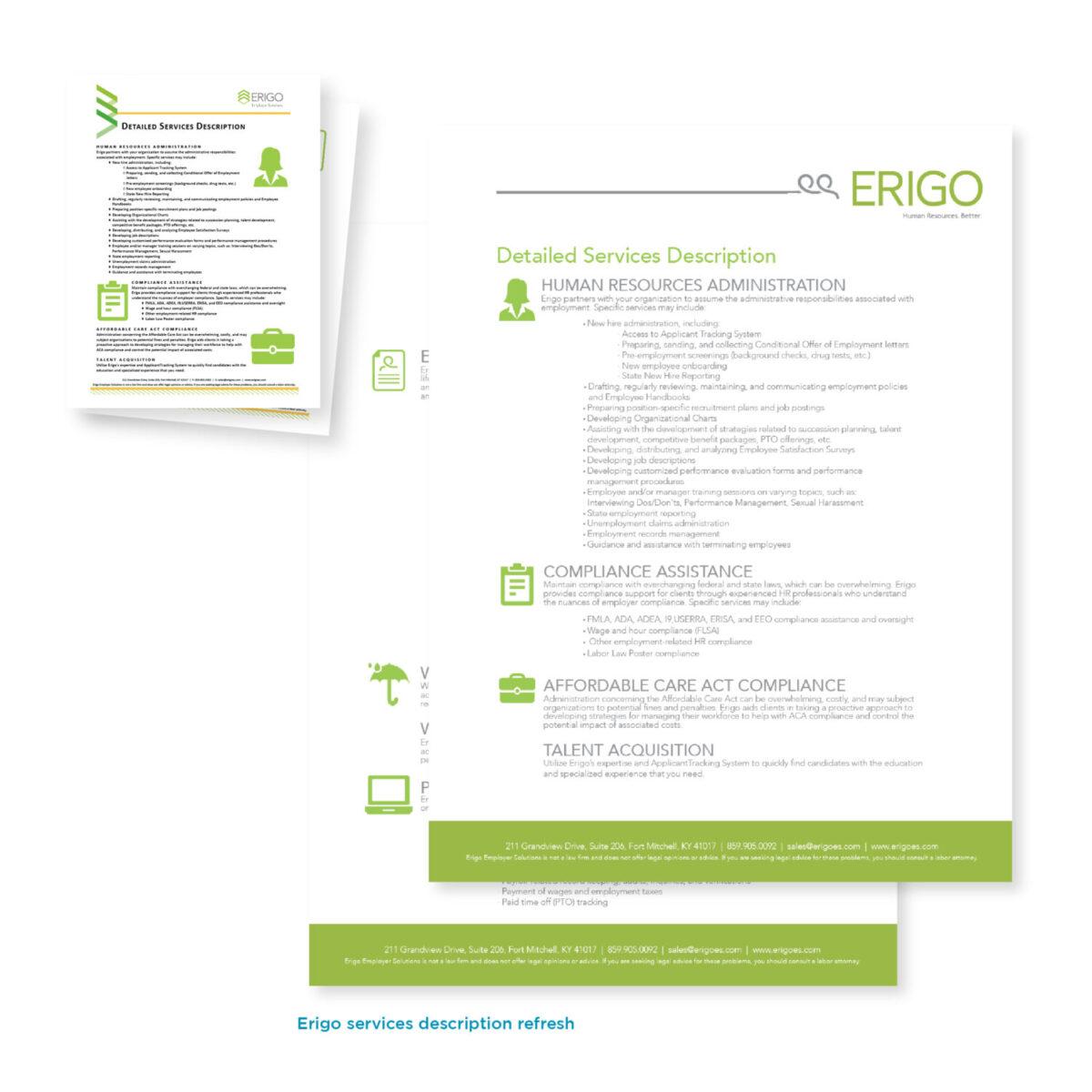 Erigo Sales Materials