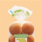 partial image of a bag of Klosterman hamburger buns