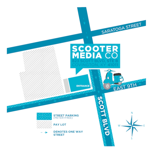 Map of Scooter Media in Covington